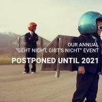 "ScaleHub's annual ""Geht nicht, gibt's nicht"" event postponed until 2021"